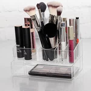 organizer na kosmetyki transparentny