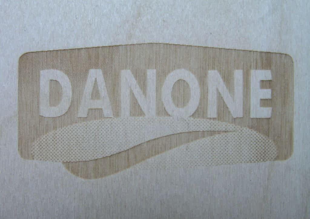 Grawer laserowy dla marki Danone